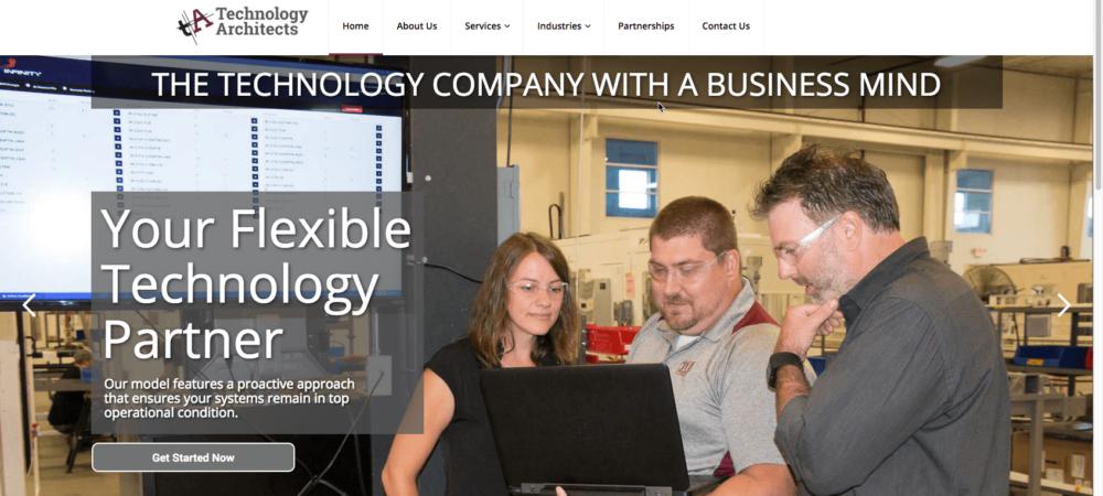 Technology Architects new website 2017
